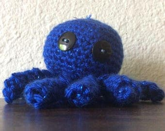 Sparkly blue octopus