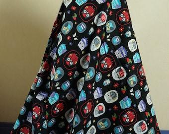 Fabric cotton OWL 50cmx140cm