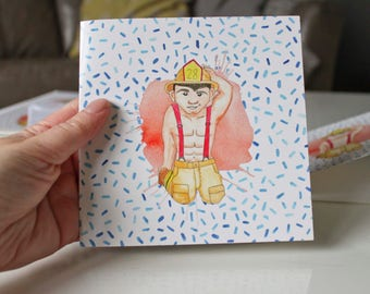 Sexy Firefighter Etsy