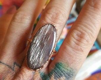 Rainbow Sunstone Ring