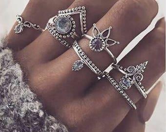 8 Piece Ring Set