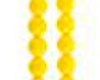 505 - Plastic, 8mm, Round, Yellow - Package of 40