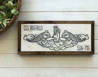 Submarine Dolphins | Navy Submarine Sign | Submarine Wood Sign | Gifts for Submariner | Gifts for Sailor | Personalized Submarine Gift