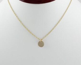 14k gold pendant etsy 14k gold pendant gold disc necklace engraved gold pendant tiny gold circle aloadofball Images