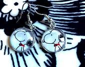 Snoopy cabochon earrings- 16mm
