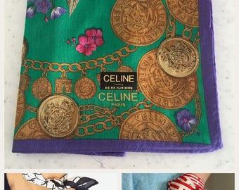 Authentic Celine Handkerchief