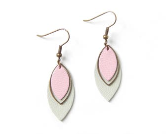 Pia seagreen and pink earrings