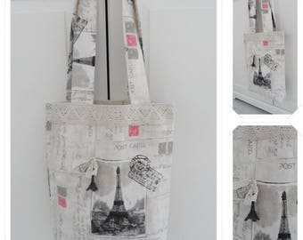 Bag tote bag Vintage themed Paris