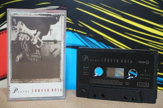 Surfer Rosa (Rare CA Pressing) by Pixies Vintage Cassette Tape
