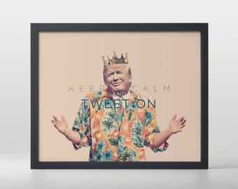 Keep Clam, Tweet On Art Print