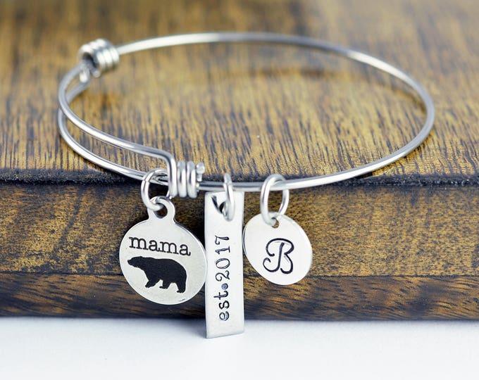 New Mom - New Mother Gift - Mama Bear Bracelet - Mama Bear Jewelry - Bear Bracelet - Mama Bear Jewelry - Mothers Bracelet - Mom Bracelet