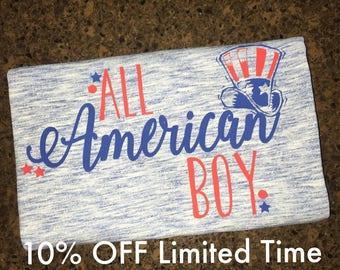 Boy 4th of July All American Boy Shirt, Toddler Boy 4th of July Shirt, 4th of July Shirt, Fourth of July Shirt, Infant Boy 4th of July Shirt