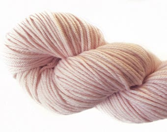 "Naturally Dyed Merino DK Yarn ""Baby Pink"", 115+ grams! Hand-dyed"