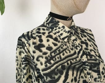 Sheer Leopard Blouse