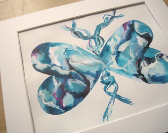 SALE - Original Painting  Sale - Butterfly Artwork - Modern Art - Contemporary Art - Abstract Painting Sale - Butterfly Painting