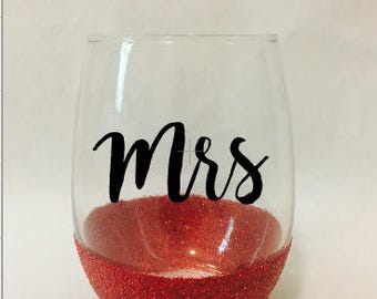 Mrs wine glass