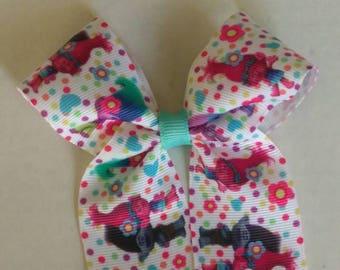 "Unicorn hair bow, Birthday bow, Make a Wish, XLarge hair bow, Birthday cake hair bow, 7"" hair bow, Party hair bow, Rainbow Unicorn Party bow"