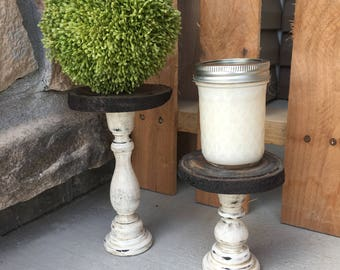 DISCOUNTED Rustic Candle Holder, Rustic Candlesticks, Rustic Candlestick Holder
