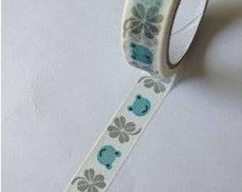 Washi Tape/Masking Tape/tape adhesive scrapbooking 6 m clover