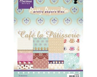 Block of 32 paper 15 x 21 cm MARIANNE DESIGN coffee the PASTRY
