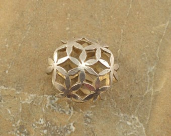 Sacred Geometry Flower Of Life Pendant Sterling Silver 3.7g