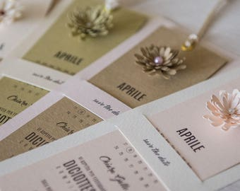Bookmark wedding card