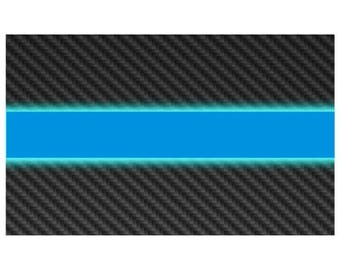 Thin Blue Line w Carbon Fiber Look Police Law Enforcement Decal / Sticker #136 Made in U.S.A.