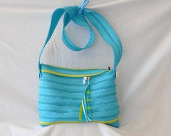 """Bicolor shoulder bag zipper brand """"lightning"""""""
