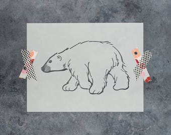 Polar Bear Stencil - Reusable DIY Craft Stencils of a Polar Bear