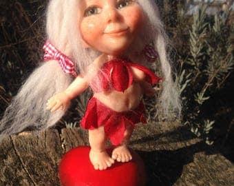 Ooak elfo della passione/ Ooak polymer clay elf