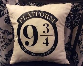 Platform 9 3/4 pillow