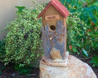 BirdHouse, Rustic Birdhouse, Handmade Birdhouse, Garden Birdhouses, Birdhouses, Wooden Birdhouse, Mantle Birdhouse, Unique Gifts