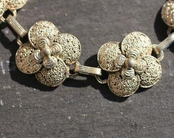 Art Deco Theodor Fahrner Silver Filigree Bracelet /  Free Shipping Worldwide.