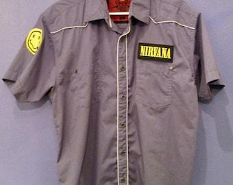 Nirvana Men's Button-down Shirt Size L