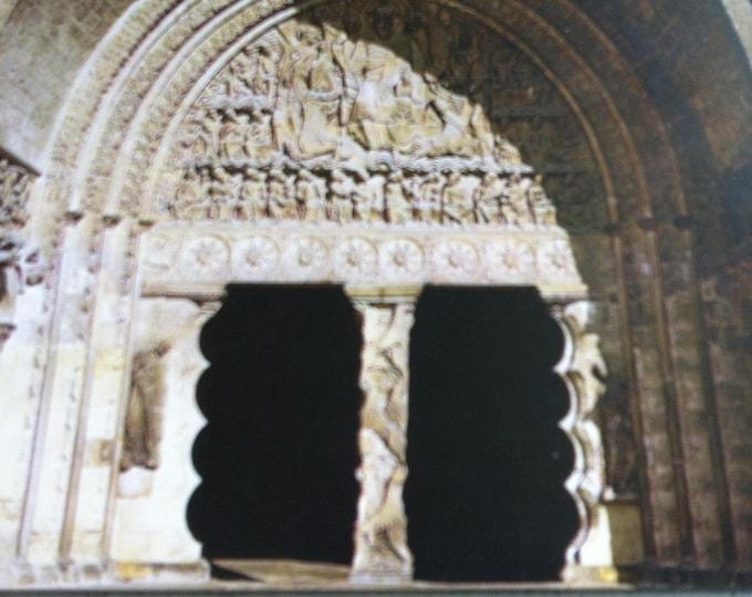 Vintage Religion Church le tympan Postcard Maria Photo