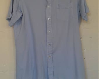 Men's light blue short sleeved shirt - Medium