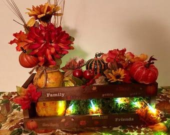 Farmhouse Style Fall Floral Arrangement