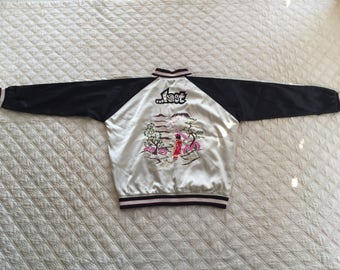 Sukajan GEISHA LOST Japanese Traditional Size Large Embroidery Souvenir Jacket