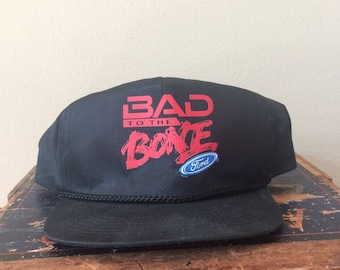 Vintage Ford Snapback Hat (Bad to the Bone)