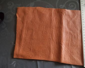 coupon in faux brown leather of superb quality 34 cm x 19.5 cm