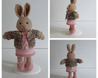 Knitted Pink Bunny Rabbit