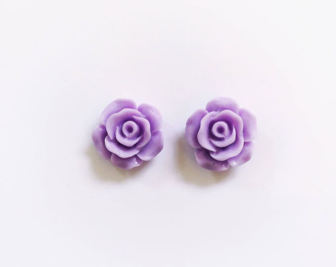 The 'Purple Passion' Flower Earring Studs