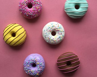 Set of 6 x 60g Classic Doughnut Sewing Pattern Weights | Great Gift for Sewists of All Abilities | Ideal for Birthdays