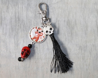 Bag charm / key chain metal / Voddoo