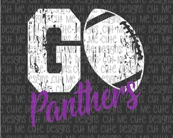 SVG DXF PNG cut file cricut silhouette cameo scrap booking Go Panthers Football Distressed