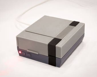 3D Printed NES Case for Raspberry Pi with Cooling Fan & LED