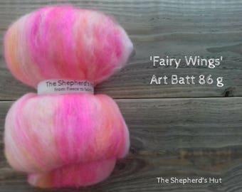 Mixed Wool Art Batt 'Fairy Wings' 86 g
