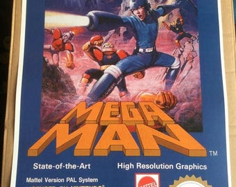 Sale on NOW Mega man  nes  game Poster Print In A3 #retrogaming please read description
