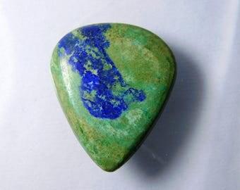 Rare- Natural Azurite Malachite cabochon, Azurite Malachite gemstone, Malachite Azurite loose gemstone. Malachite Azurite 28 Cts. #3353N
