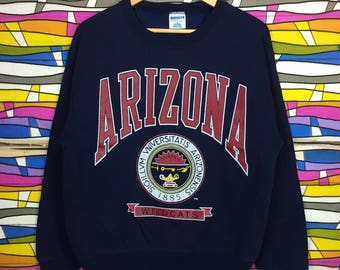 Rare!! ARIZONA Crewneck Spellout Big Logo Blue Colour Sweatshirt Medium Colour